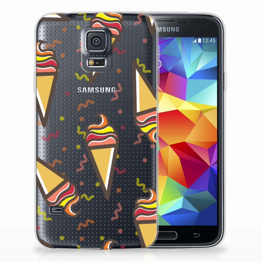 Samsung Galaxy S5 Siliconen Case Icecream