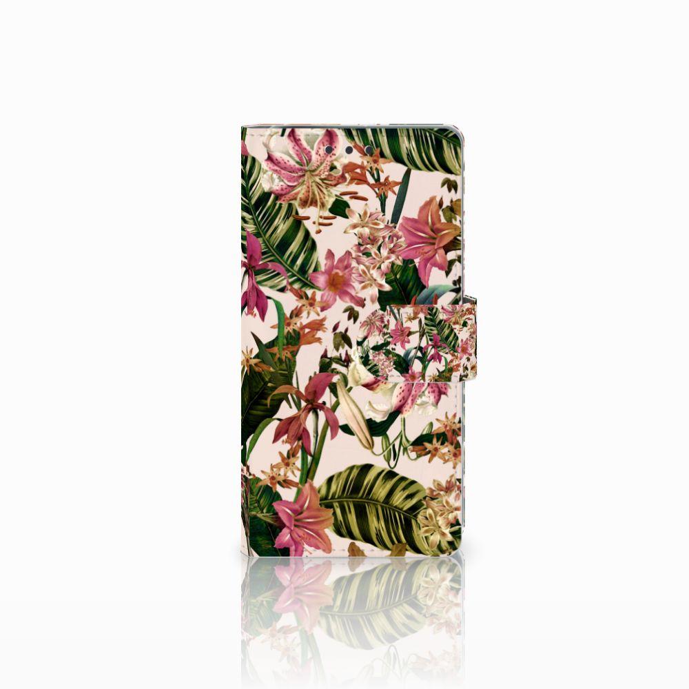 Sony Xperia X Performance Uniek Boekhoesje Flowers