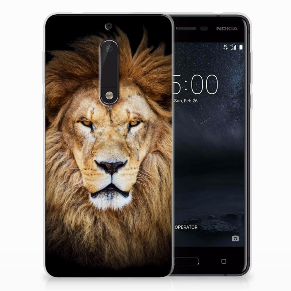 Nokia 5 Uniek TPU Hoesje Leeuw