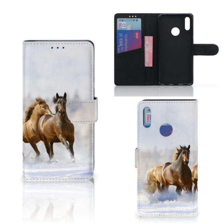 Huawei Y7 Pro | Y7 Prime (2019) Telefoonhoesje met Pasjes Paarden