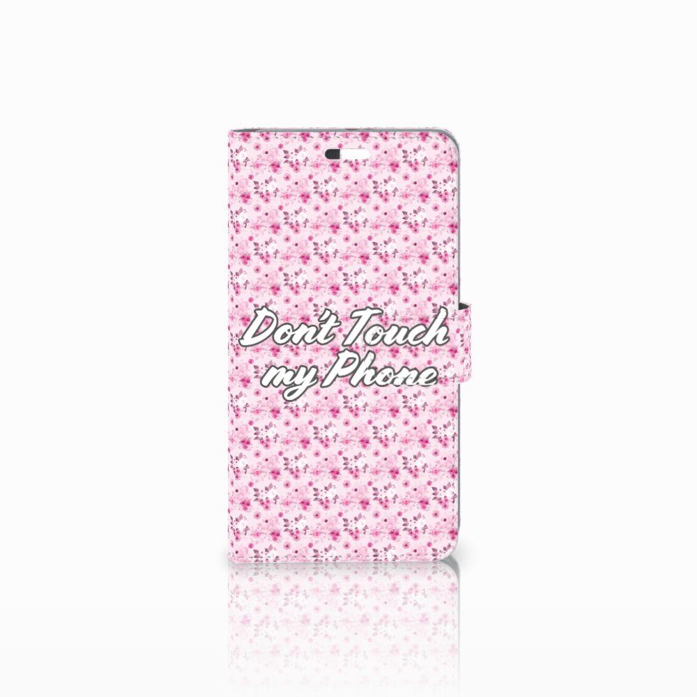 Huawei P9 Plus Uniek Boekhoesje Flowers Pink DTMP