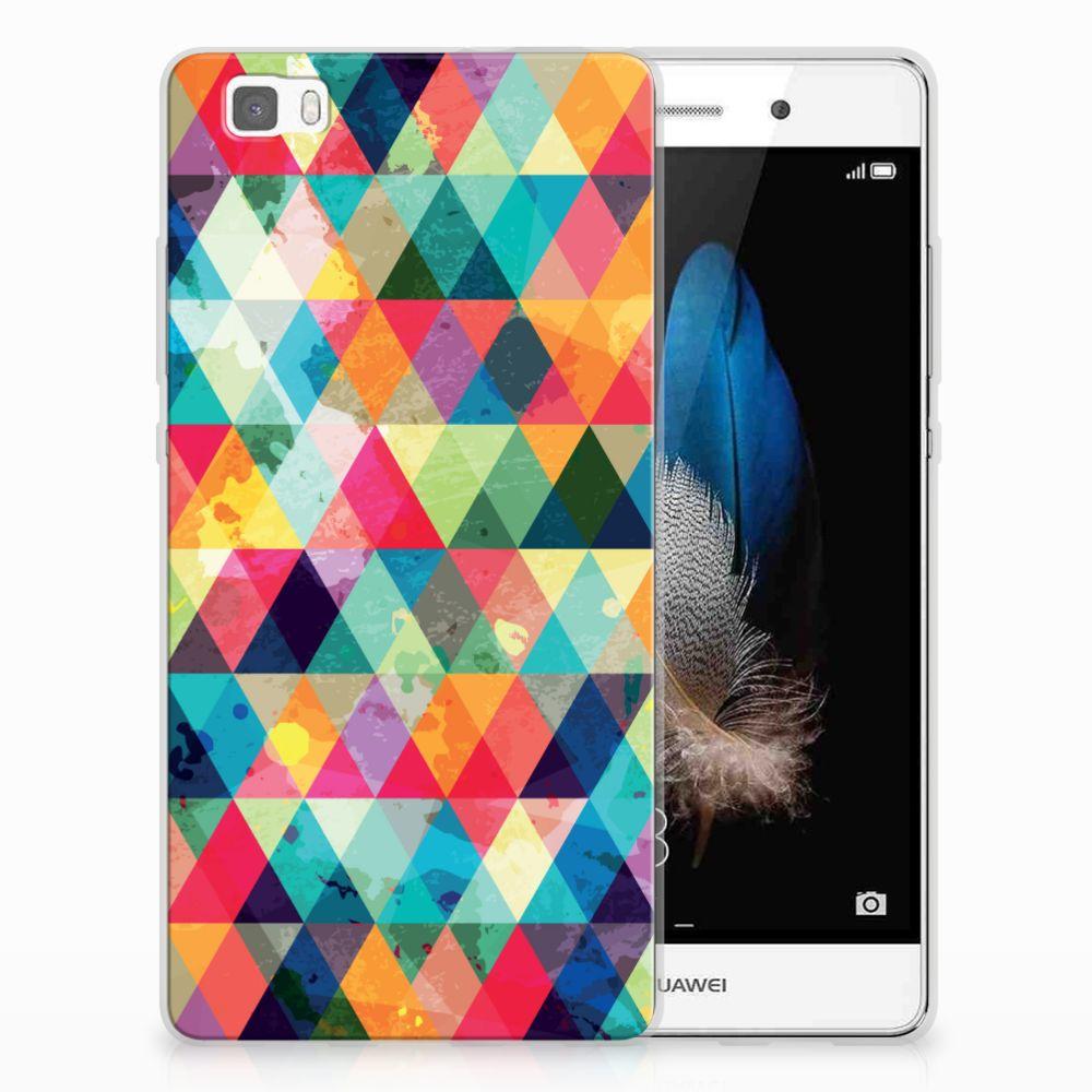 Huawei Ascend P8 Lite Uniek TPU Hoesje Geruit
