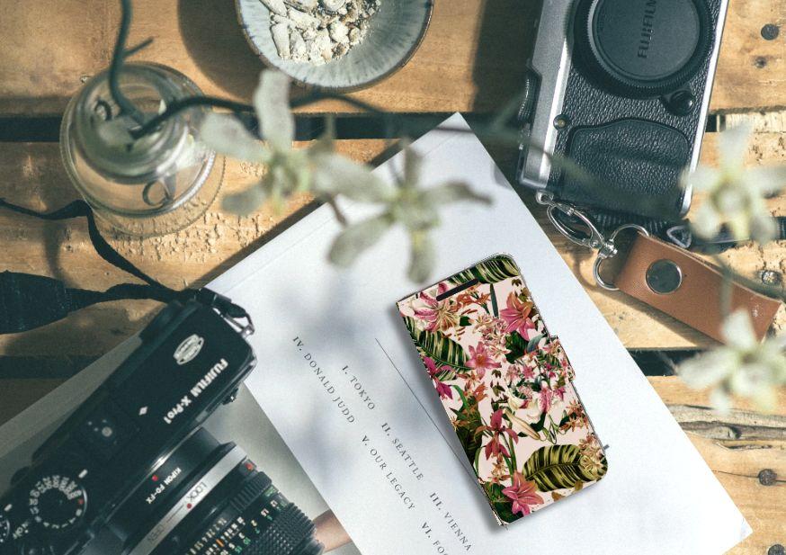 HTC One M9 Uniek Boekhoesje Flowers