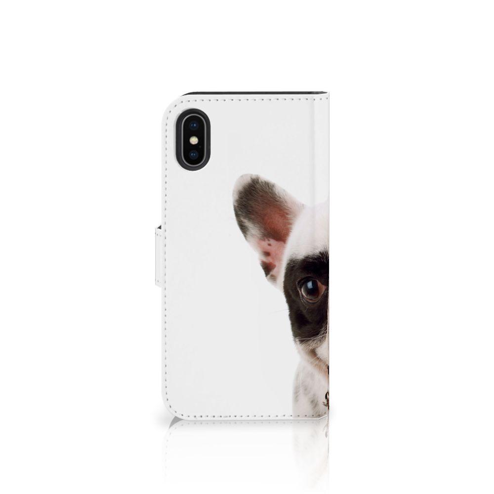 Apple iPhone X | Xs Telefoonhoesje met Pasjes Franse Bulldog