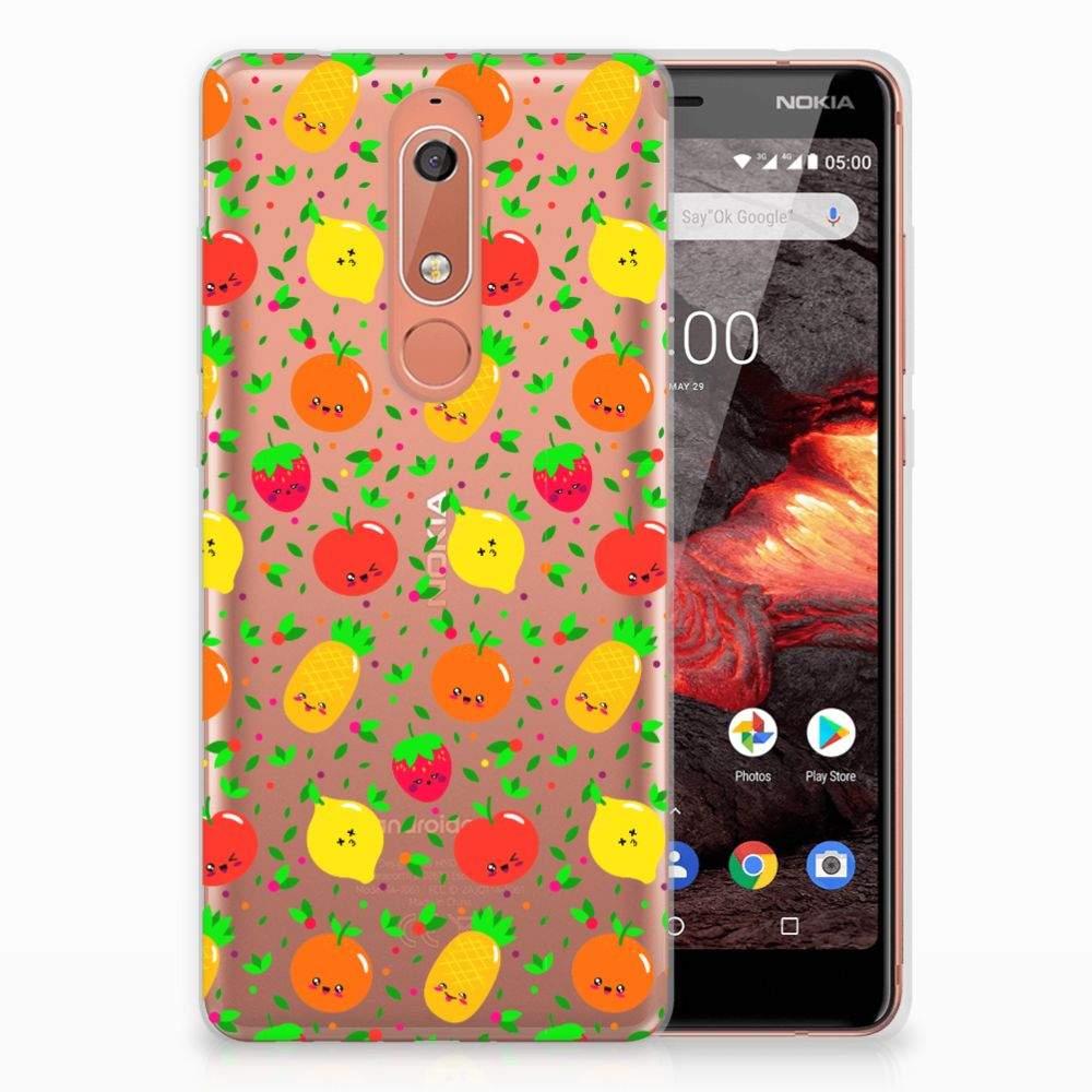 Nokia 5.1 (2018) Siliconen Case Fruits