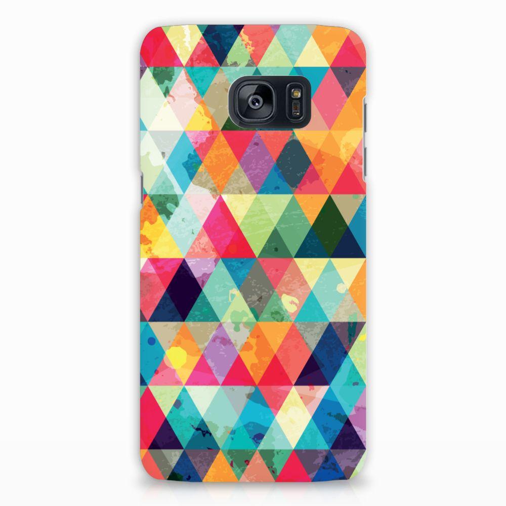 Samsung Galaxy S7 Edge Uniek Hardcase Hoesje Geruit