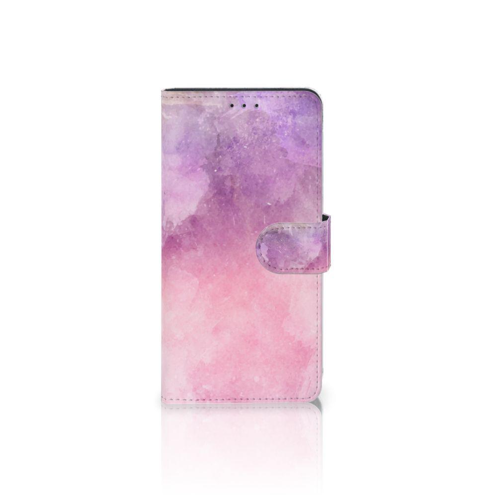 Samsung Galaxy A7 (2018) Boekhoesje Design Pink Purple Paint