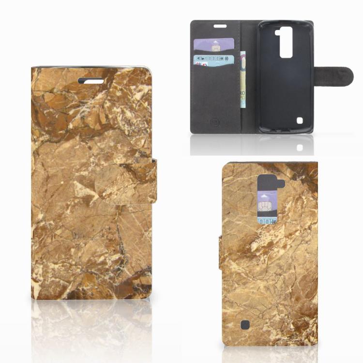 LG K10 2015 Bookcase Marmer Creme