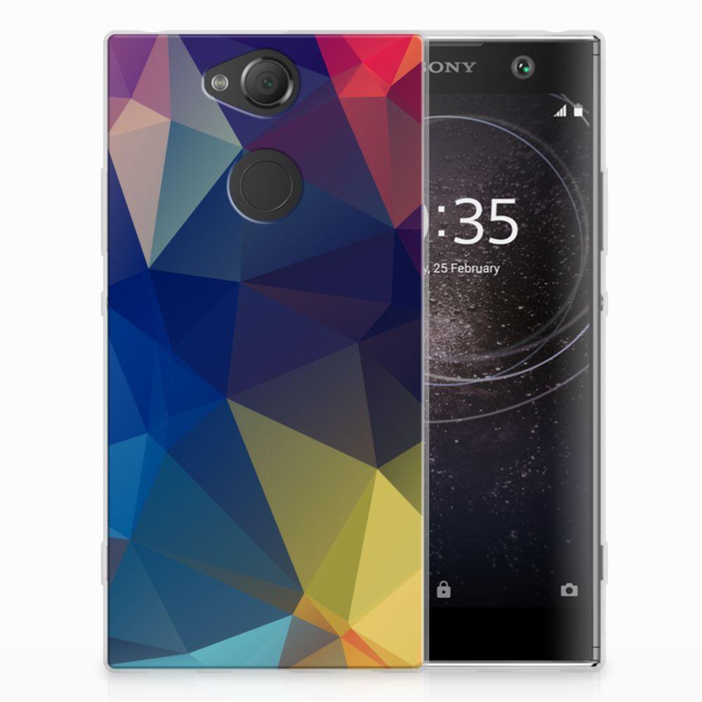 Sony Xperia XA2 TPU Hoesje Polygon Dark