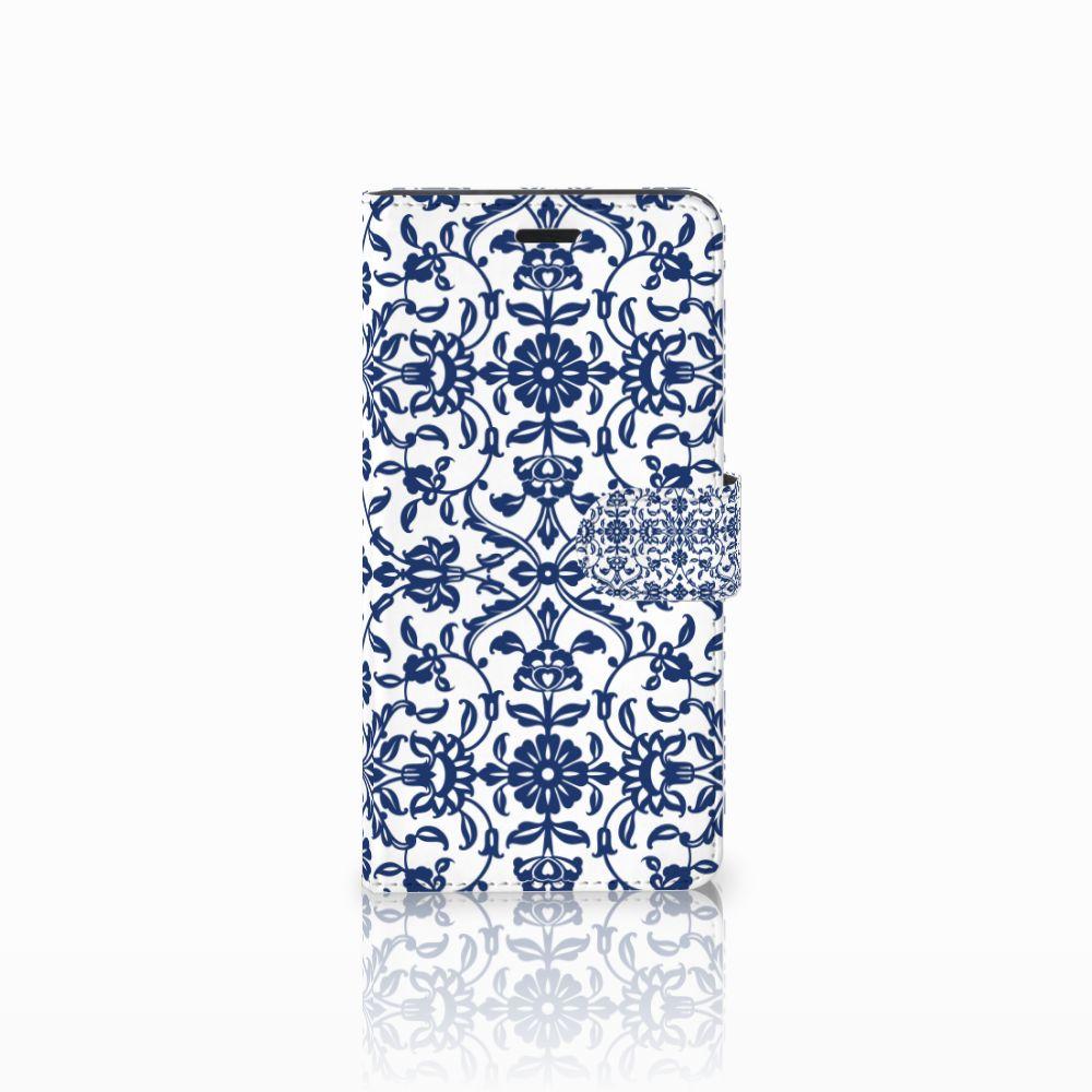 Wiko Pulp Fab 4G Boekhoesje Flower Blue
