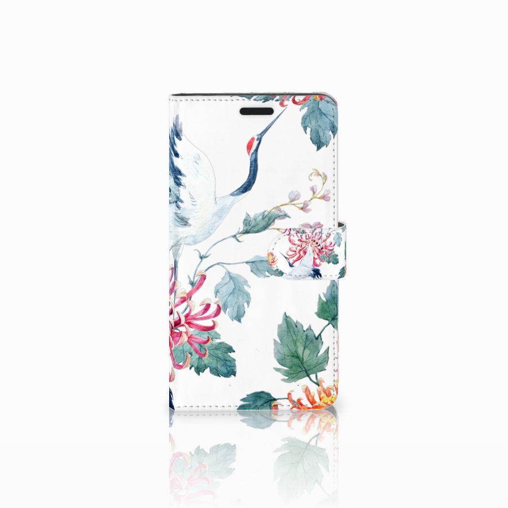 Sony Xperia T3 Uniek Boekhoesje Bird Flowers