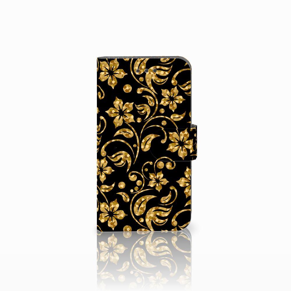 Samsung Galaxy Xcover 3 | Xcover 3 VE Boekhoesje Design Gouden Bloemen