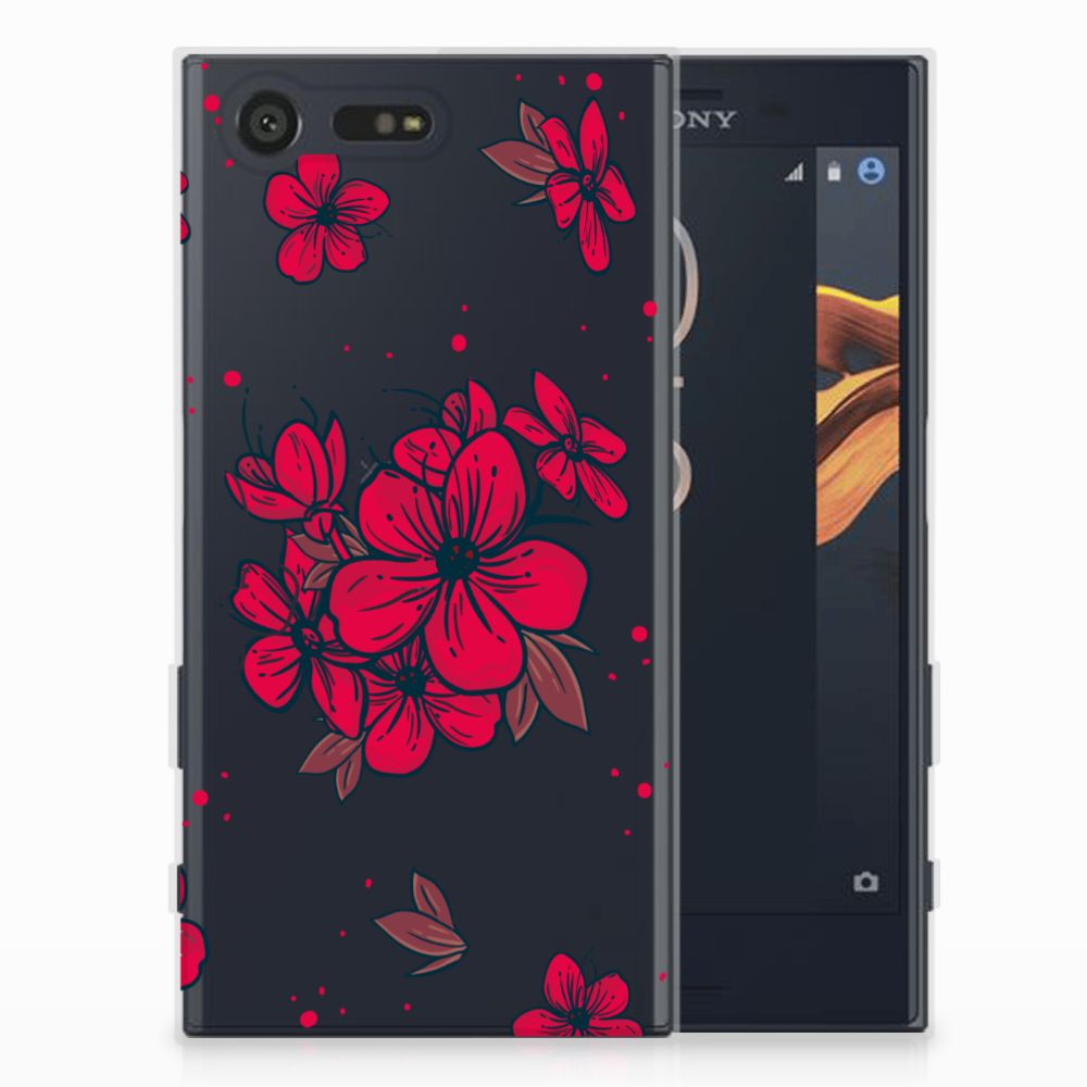 Sony Xperia X Compact TPU Hoesje Design Blossom Red