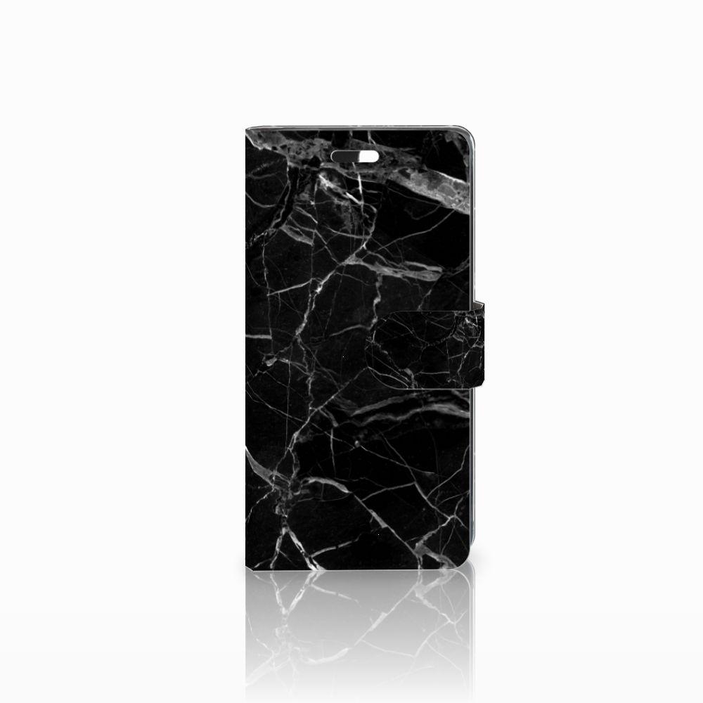 Huawei Y635 Uniek Boekhoesje Marmer Zwart
