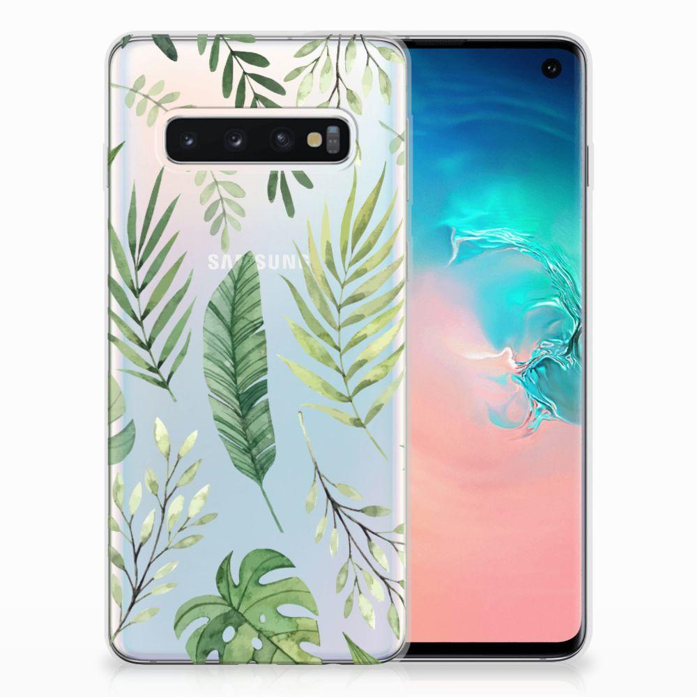 Samsung Galaxy S10 Uniek TPU Hoesje Leaves