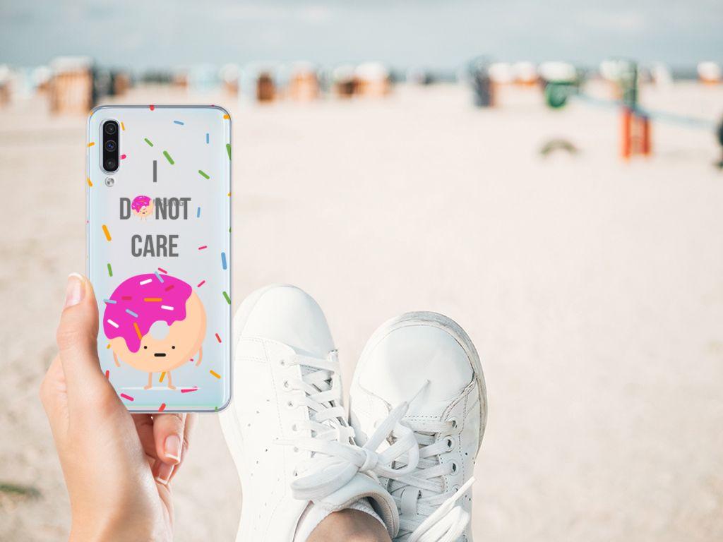 Samsung Galaxy A50 Siliconen Case Donut Roze