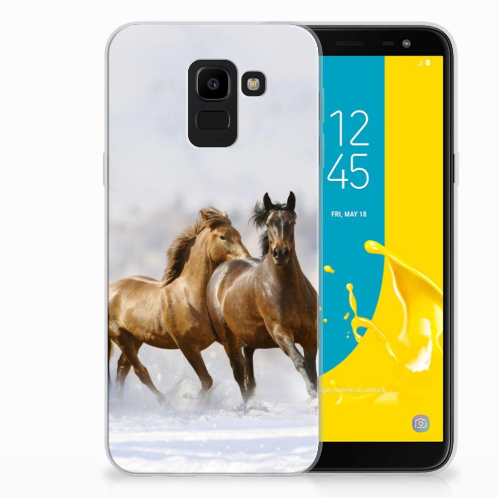 Samsung Galaxy J6 2018 TPU Hoesje Paarden