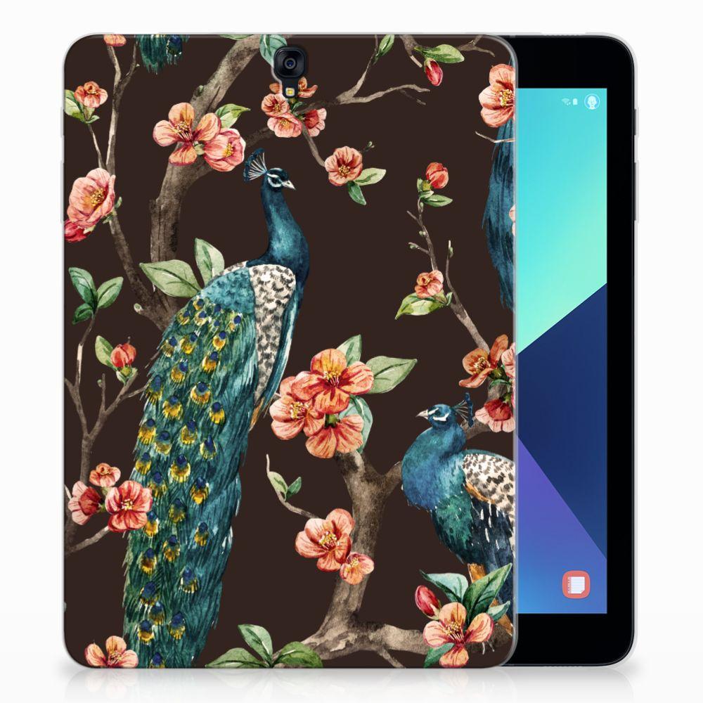 Samsung Galaxy Tab S3 9.7 Tablethoesje Design Pauw met Bloemen