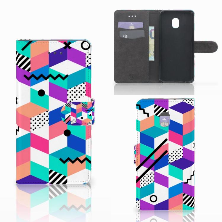 Samsung Galaxy J7 (2018) Bookcase Blokken Kleurrijk