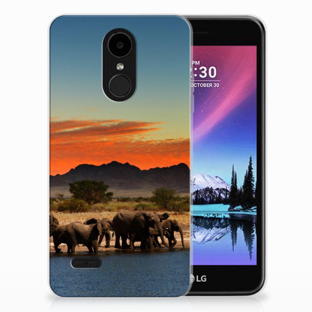 LG K4 (2017) TPU Hoesje Design Olifanten