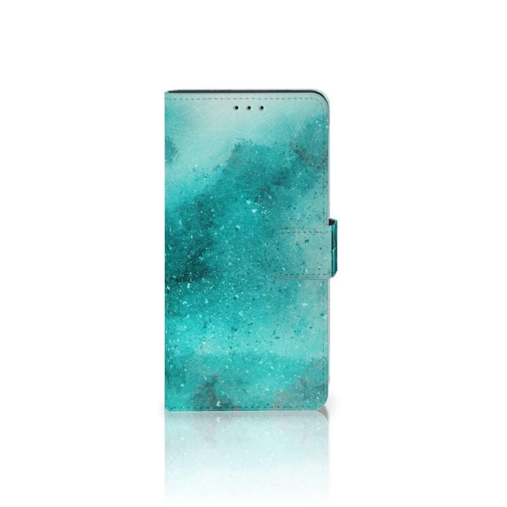 Samsung Galaxy A7 (2018) Uniek Boekhoesje Painting Blue