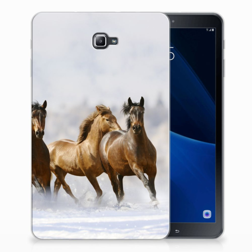 Samsung Galaxy Tab A 10.1 Uniek Tablethoesje Paarden