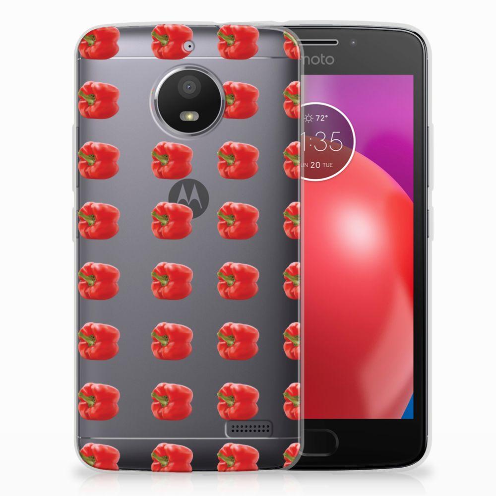 Motorola Moto E4 Siliconen Case Paprika Red