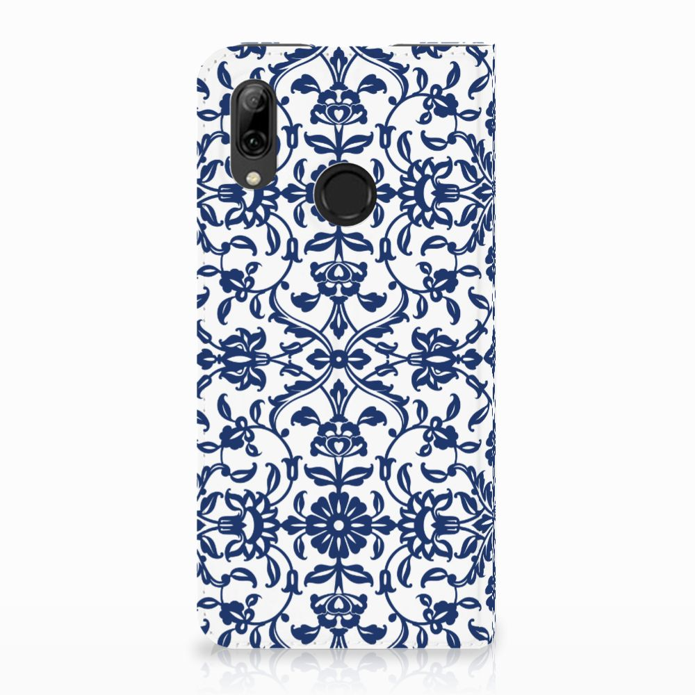 Huawei P Smart (2019) Standcase Hoesje Flower Blue
