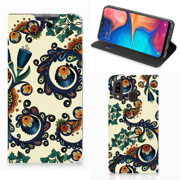 Telefoon Hoesje Samsung Galaxy A30 Barok Flower