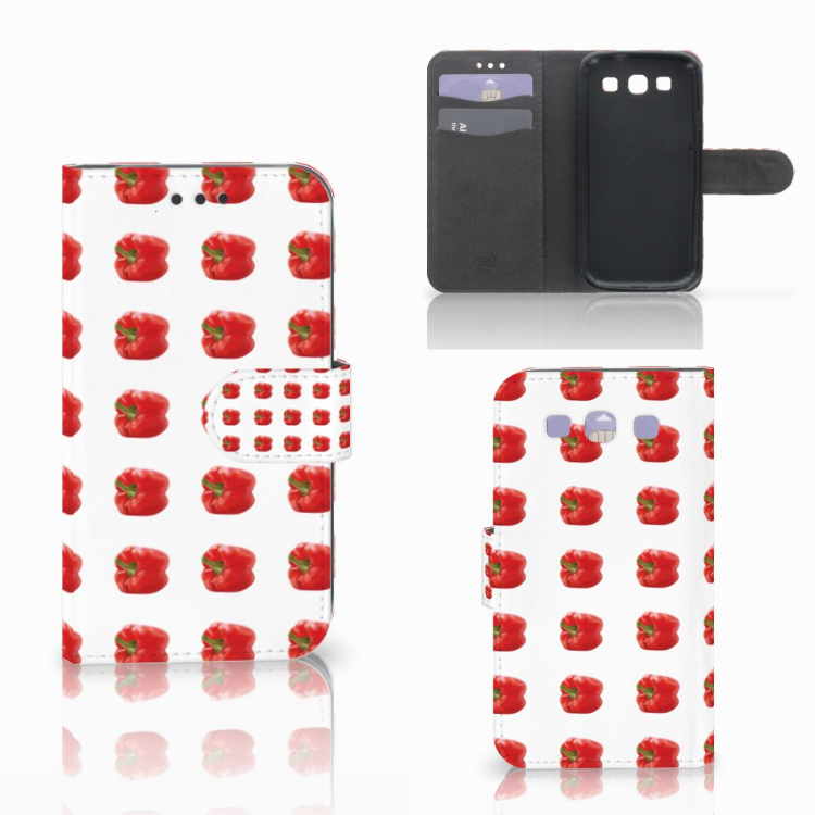 Samsung Galaxy S3 i9300 Book Cover Paprika Red