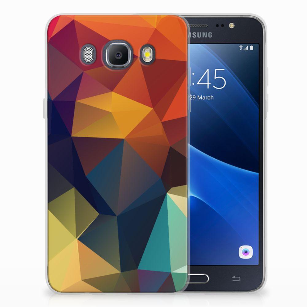 Samsung Galaxy J5 2016 TPU Hoesje Polygon Color