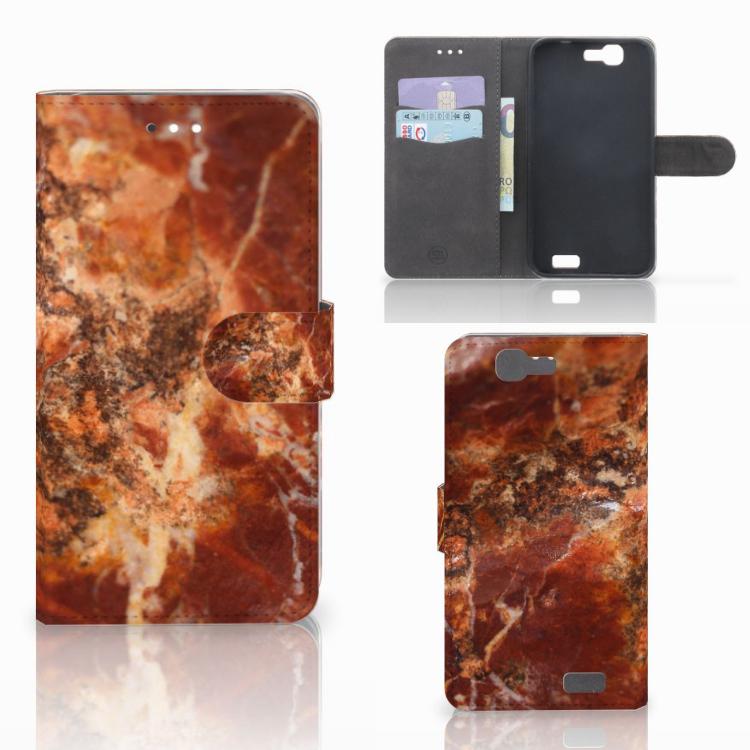 Huawei Ascend G7 Bookcase Marmer Bruin