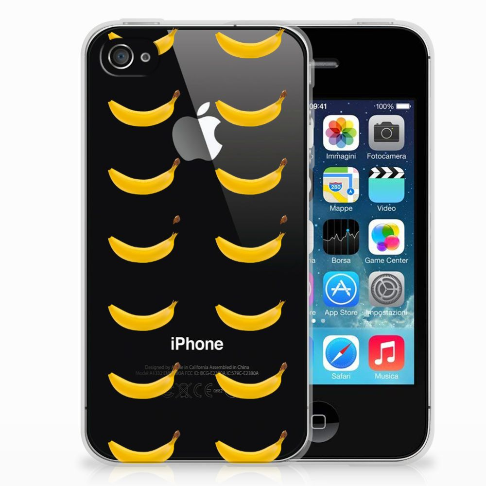 Apple iPhone 4 | 4s Siliconen Case Banana