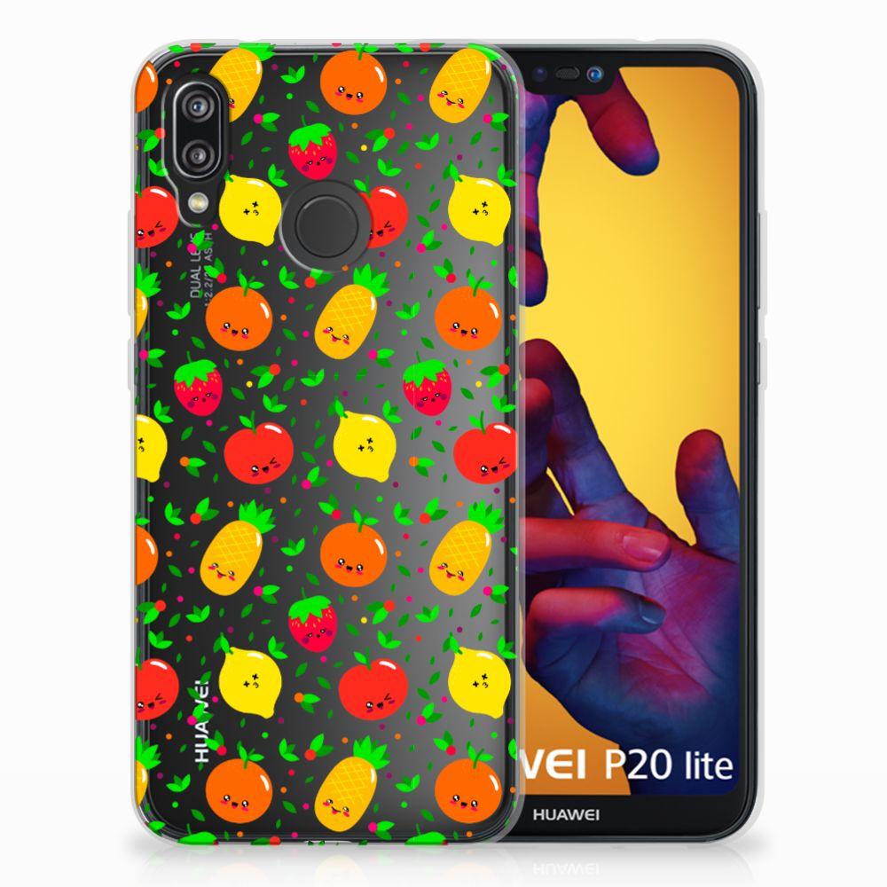 Huawei P20 Lite Siliconen Case Fruits