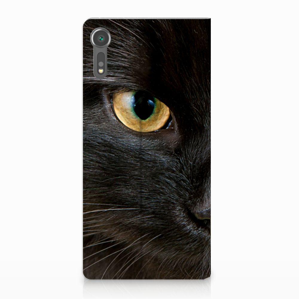 Sony Xperia XZ | XZs Uniek Standcase Hoesje Zwarte Kat