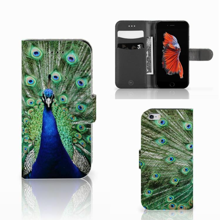 Apple iPhone 6 | 6s Telefoonhoesje met Pasjes Pauw