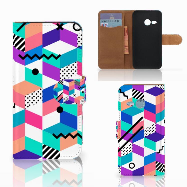 HTC One Mini 2 Bookcase Blokken Kleurrijk