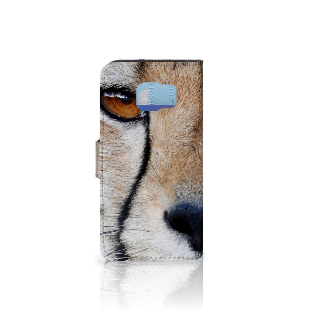Samsung Galaxy S6   S6 Duos Telefoonhoesje met Pasjes Cheetah