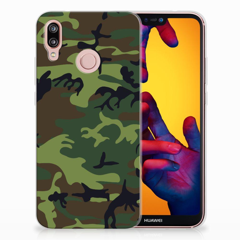 Huawei P20 Lite TPU Hoesje Design Army Dark