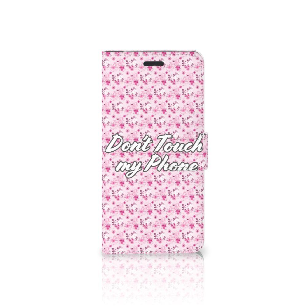 Motorola Moto Z Uniek Boekhoesje Flowers Pink DTMP