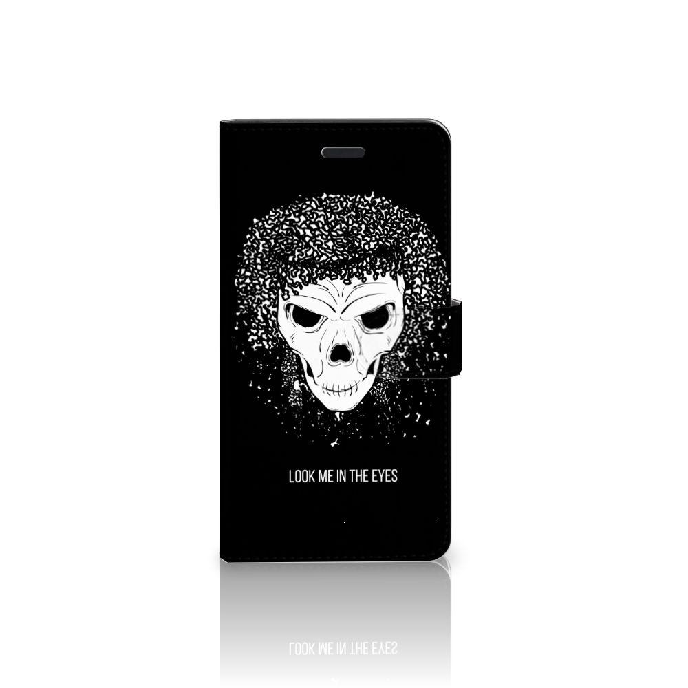 Samsung Galaxy A7 2017 Uniek Boekhoesje Skull Hair