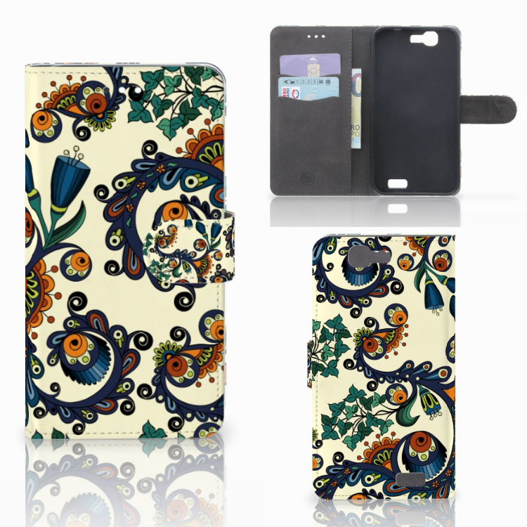 Wallet Case Huawei Ascend G7 Barok Flower