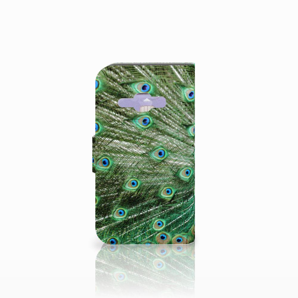 Samsung Galaxy J1 2016 Telefoonhoesje met Pasjes Pauw