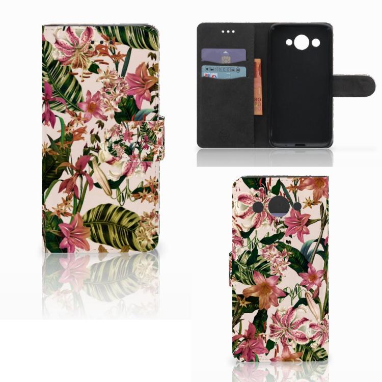 Huawei Y3 2017 Hoesje Flowers