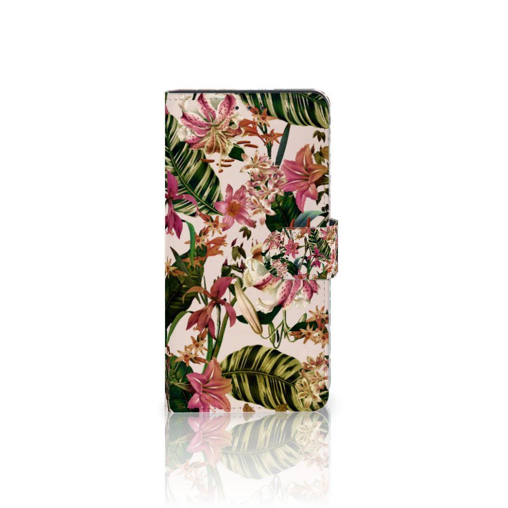 Samsung Galaxy A7 (2018) Uniek Boekhoesje Flowers
