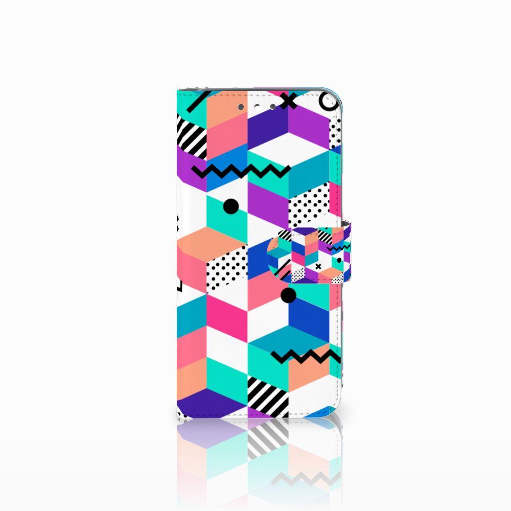 Wiko Wim Boekhoesje Design Blocks Colorful