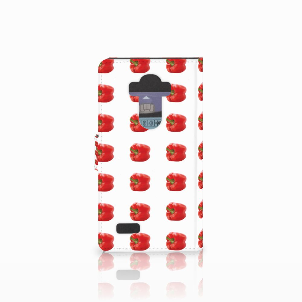 LG G4 Book Cover Paprika Red