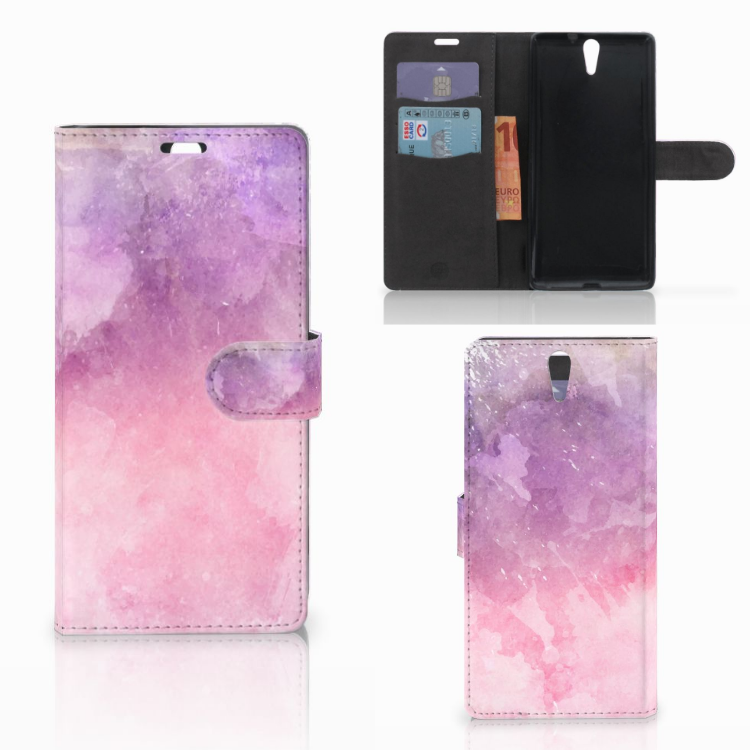 Hoesje Sony Xperia C5 Ultra Pink Purple Paint