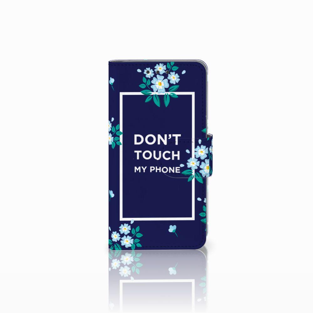 Samsung Galaxy A3 2015 Boekhoesje Flowers Blue DTMP