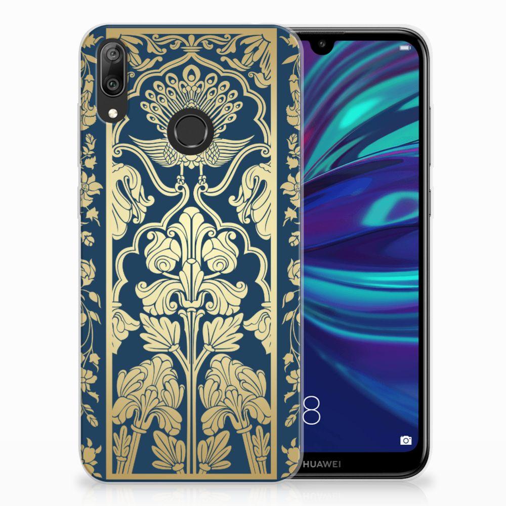 Huawei Y7 2019 TPU Hoesje Golden Flowers